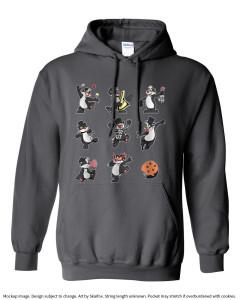 hoodie mockup grid design